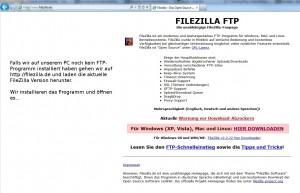 Fielzilla FTP Programm herunterladen