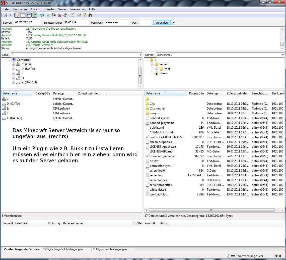 Minecraft Server Bukkit Installieren TekLab WI SERVERBIZ - Minecraft bukkit server unter linux erstellen