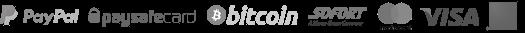 Server mieten mit bitcoin, Paysafecard, PayPal, SOFORTüberweisung