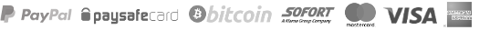Server mieten mit Bitcoin, paysafecard, PSC, PayPal, Klarna Sofort
